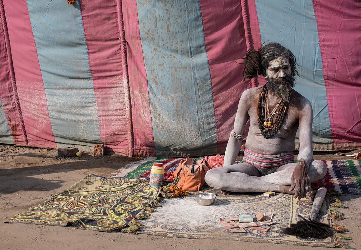 Un chillum con Shiva en el 'kumbh mela'