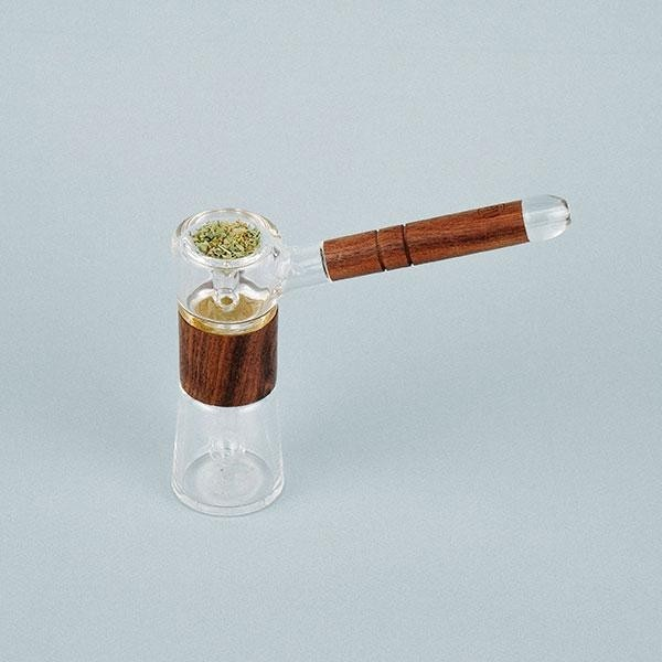 Marley Glass y Wood Walnut Bubbler