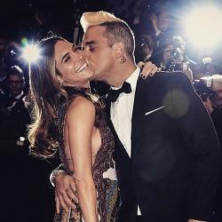 Ayda Field y Robbie Williams